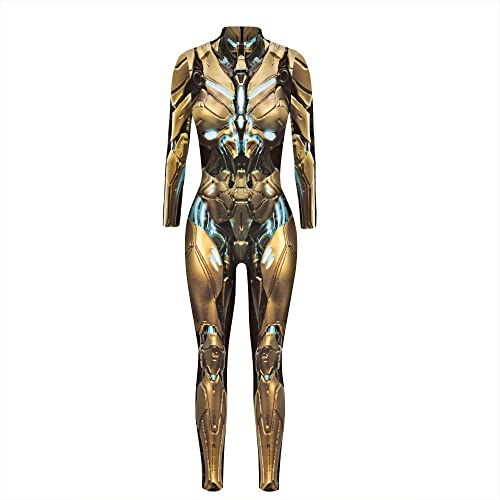 ArcherWlh Holloween,Leggings Push Up Mujer,2021 3D Mech impresin Digital Mujeres Europeas y Americanas Disfraz de Cosplay de Halloween Traje de Ventilador de Moda fresco-BAX167_SG