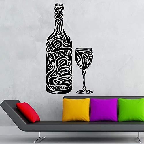 WERWN Etiqueta engomada del Vino de la Etiqueta engomada del Restaurante de la Cocina Etiqueta engomada de la Pared del Arte del Vinilo Etiqueta engomada del Vino Mural Decorativo