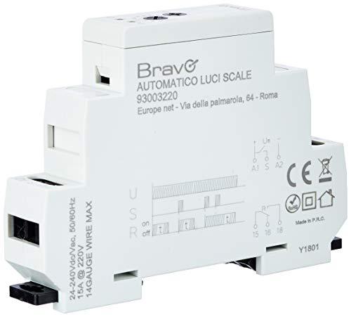 Interruttore automatico luci scale per quadri elettrici DIN BRAVO 93003220
