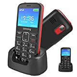 Ushining 3G Senior Unlocked Cell Phone AT&T Big Button Feature Phone Hearing Aids Compatible Easy-to-Use Basic Phone for Elderly with Charging Dock(Black)