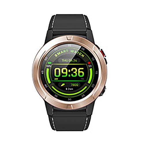 Reloj inteligente, pantalla IPS de 1,3 pulgadas, GPS integrado, posicionamiento preciso, modo multideporte, detección de salud, compatible con Android e iOS (color: dorado)