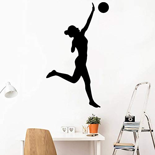 JXFM DIY Chica Dormitorio Pegatinas de Pared decoración del hogar calcomanías de Vinilo extraíbles Voleibol Deportes Mural de Pared decoración de la Personalidad 42x69 cm