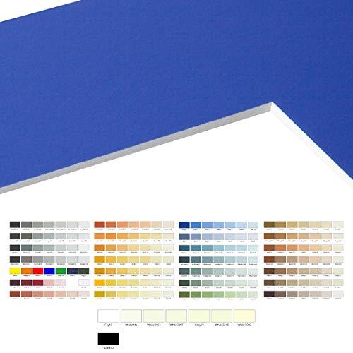 AlphaUVplus Passepartout Zuschnitt nach Maß - 1 Stück - Außengröße: 40x40cm - 1,4mm stark - Museumsqualität - über 200 Farben zur Auswahl