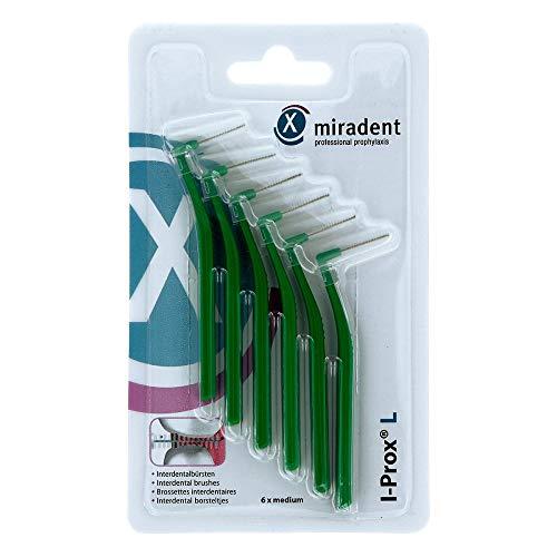 MIRADENT Interdentalbürste I-Prox L 0,7 mm grün 6 St