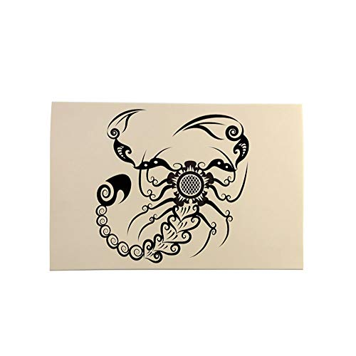 MorNon 10Pcs Tatuaje Práctica Cuero Piel Artificial para Tatuar Materiales de Práctica Diseñados para Tatuadores Expertos o Tatuadores Novatos 20CM x 15CM