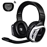 Wireless PS4 Gaming Headset 2.4GHz Optical Game Headphones with 7.1 Surround Sound for PS4 PS3 PC MAC Laptop Tablets Rechargeable Battery