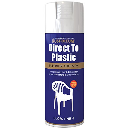 Rust-Oleum AE0030001E8 400ml Direct to Plastic Spray Paint - Wh