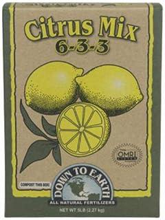 Down To Earth 07863 Citrus Mix Fertilizer, 5 Lbs, 6-3-3