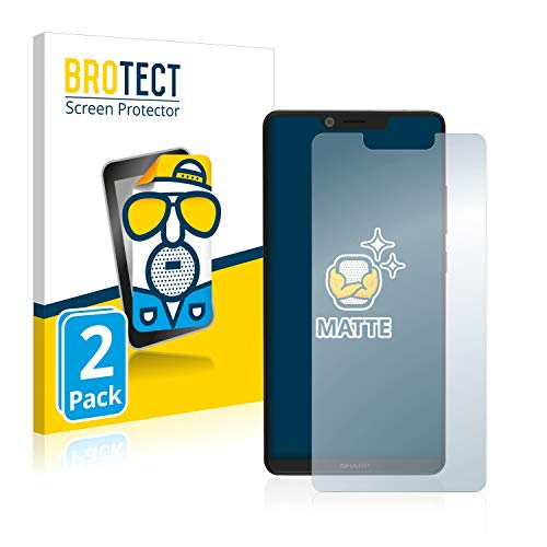 BROTECT 2X Entspiegelungs-Schutzfolie kompatibel mit Sharp Aquos D10 Bildschirmschutz-Folie Matt, Anti-Reflex, Anti-Fingerprint