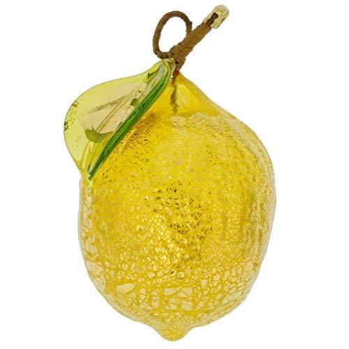 GlassOfVenice - Figura decorativa de cristal de Murano, diseño de limón