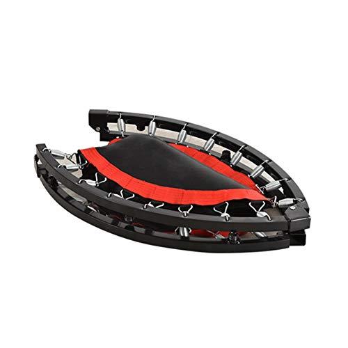 JXJJD Indoor Mini Exercise Trampoline for Adults, Foldable Rebounder Trampoline Cover Exercise Trampoline for Adults Kids Indoor/Outdoor Home Gym Equipment