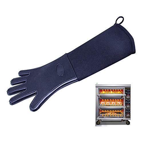 DUANYU Ofenhandschuhe,1 Stück Hitzebeständige Handschuhe Küche Backen Kochhandschuhe Extra Lange Leinwand Nähen BBQ Ofenhandschuhe Einfarbig