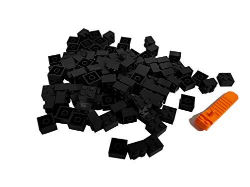 LEGO Classic 100 Stück 2x2 Steine (3003) mit Steinetrenner (schwarz)