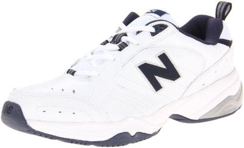 New Balance Men's MX624v2 Casual Comfort Training Shoe, White/Navy, 10.5 D US