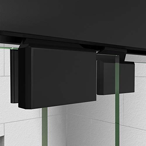 DreamLine Encore 56-60 in. W x 58 in. H Semi-Frameless Bypass Tub Door in Satin Black, SHDR-1660580-09