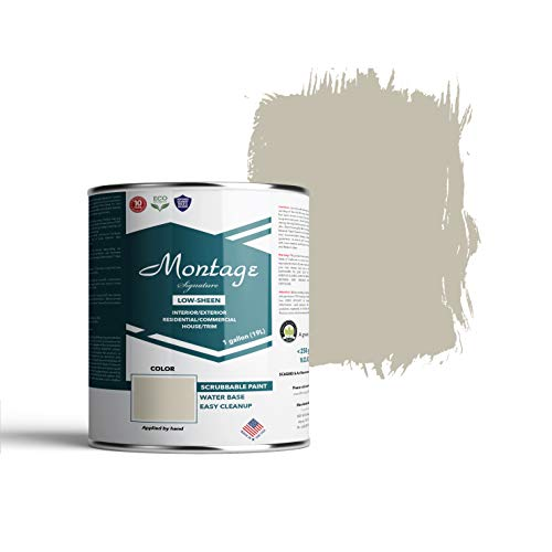 Montage Signature Interior/Exterior Eco-Friendly Paint, Patina - Low Sheen, 1 Gallon