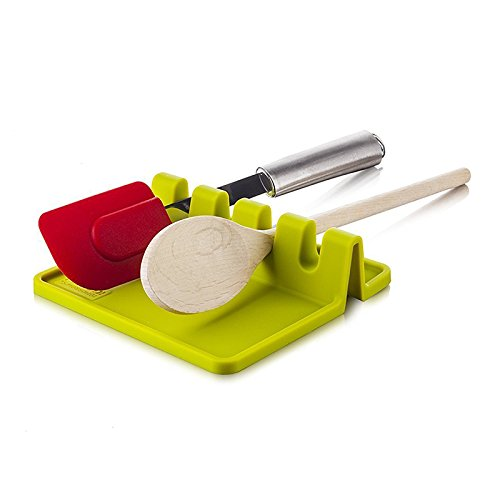 1 pc Kitchen Silicone Utensil Rest Holder Heat Resistant for Cooking Tools Spoon Spatula