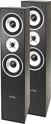 LTC Multicav 3-way stand speaker boxes (500Watt PMPO, bass reflex, woofer, 1 pair), black from LTC