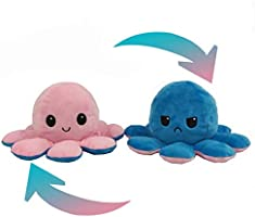 Cute Octopus Plush Toys, Double-Sided Flip Octopus Doll, Reversible Octopus Stuffed Animals Doll, Toy Gifts for Kids,...