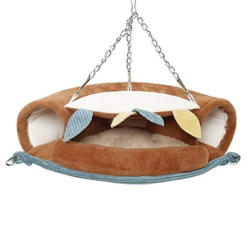 Kalmerende Bed Plush Knaagdieren Warm Tunnel Hangmat Bed Ferret Rat Hamster Bird Eekhoorn Shed Cave Dog Tag (Color : Multi, Size : Semi circle)