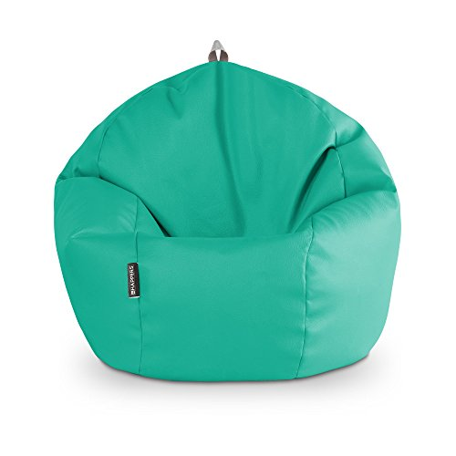 HAPPERS Puff Pelota Polipiel Outdoor Turquesa