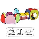 ZCXBHD Niños Play Carpa Tunnel Kids Playhouse Game House 3 En 1 Set Carpa De Juego Interior Al Aire Libre,C