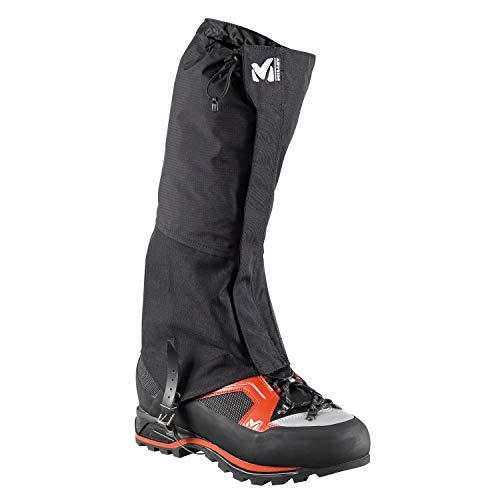 Millet - Alpine Gaiters DryEdge - Guêtres Hautes Protectrices - Modèle Mixte - Randonnée, Trekking, Alpinisme, Noir (BLACK - NOIR), L