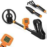 Metal Detector for Kids - Kids Metal Detector with Waterproof Search Coil - Lightweight LCD Display Detector (Orange)