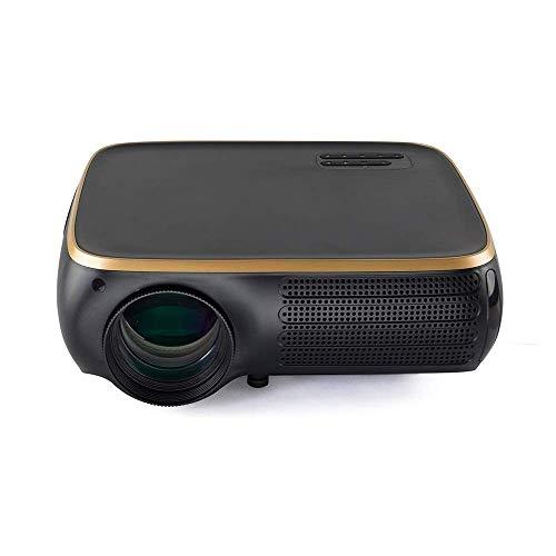 Proyector LCD Proyector de 950 lúmenes LED 1920X1080dpi 1080P HD 4K 3D proyector de Cine en casa for 8G (Color: Blanco, Tamaño: un tamaño) LMMS (Color : Black Gold, Size : One Size)
