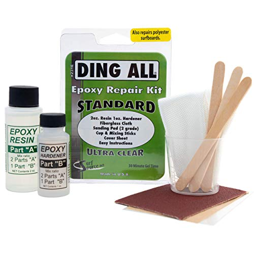 Ding All 3 Oz (84ml) Standard Epoxy Repair Kit for Epoxy and Polyester Surfboards Repairs