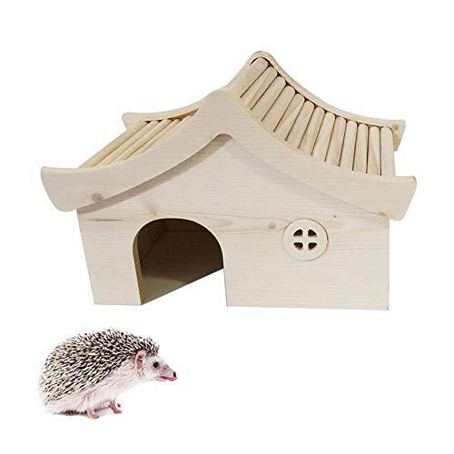 FENGLI Igelhäuser für den Garten, wasserdicht, aus Holz, Igel-Futterstation, feuchtigkeitsbeständig, Igelhaus, Überwinterungsschutz, stark und stabil, geeignet für Igel, Hamster usw.