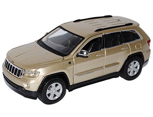 Maisto Jeep Grand Cherokee Laredo Gold Beige WK Ab 2010 1/24 Modell Auto mit individiuellem Wunschkennzeichen