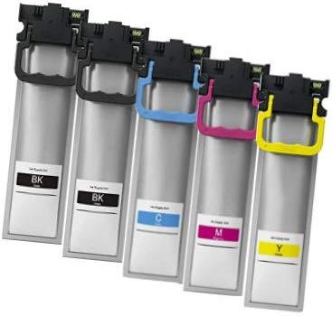 Printing Saver T9451-T9454 (T945) SCHWARZ (2) Cyan (1) Magenta (1) GELB (1) Tintenpatronen kompatibel für Epson Workforce Pro WF-C5210DW WF-C5215DW WF-C5290DW WF-C5710DWF WF-C5790DW WF-C5790DWF