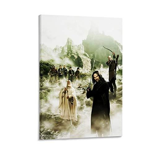 ASDUN Fantasy-Filmposter mit Herr der Ringe, Leinwand-Kunstdruck, modernes Familienschlafzimmer, 30 x 45 cm
