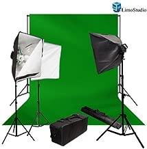 LimoStudio 2400 Watt Chromakey Green Screen Video Lighting Kit with Softbox Light Kit by LimoStudio, AGG407V2