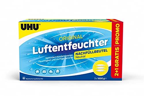 Uhu Air Max 3 x 1000 g Luftentfeuchter Sparpack Raumluft Regulierung Entfeuchter