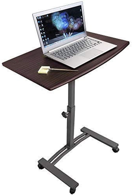 Tatkraft Salute  Laptoptisch Beistelltisch mit 4 Rdern  Hhenverstellbar  Tischplatte 60x40 cm  MF Stahl mit Anschlag  Robust und stilvoll