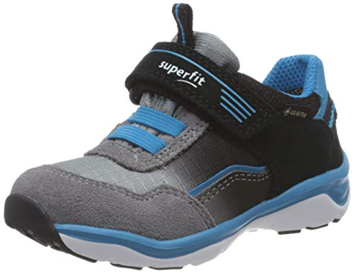 Superfit Jungen SPORT5 Sneaker, (Schwarz/Blau 00), 32 EU