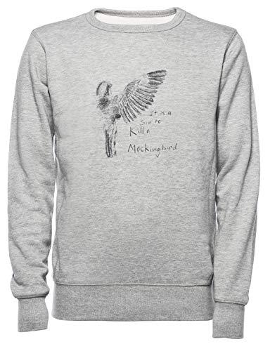 to Kill A Mockingbird - Transparent Herren Damen Unisex Sweatshirt Jumper Grau Größe XXL - Women's Men's Unisex Sweatshirt Jumper Grey