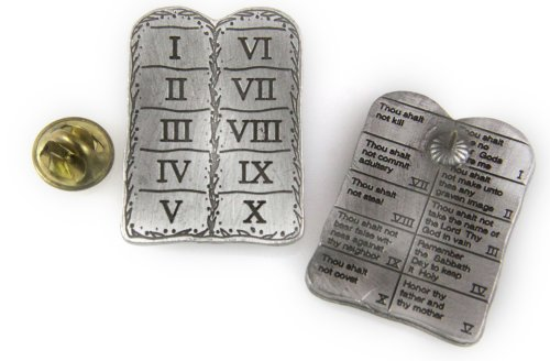 Pins & Brooches 6030163 10 Ten Commandments Lapel Pin Tie Tack Christian Religious Bible Verse Jewelry