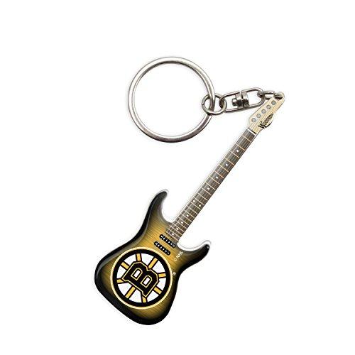 sportsvault NHL Boston Bruins Gitarre Schlüsselanhänger, Schwarz, 6