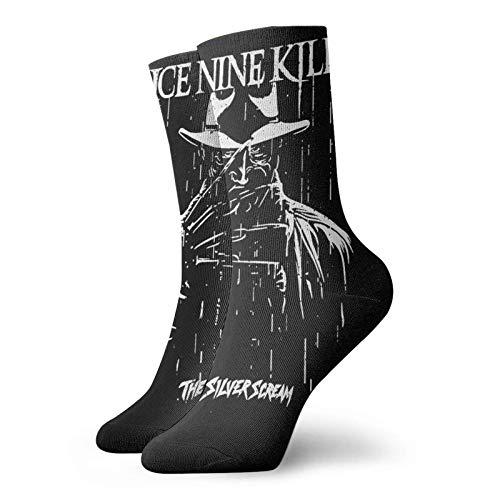 Kurze Socken für Erwachsene, Motiv: Ice Nine Kills, 3D-Druck, lässige Crew-Socken für Damen & Herren