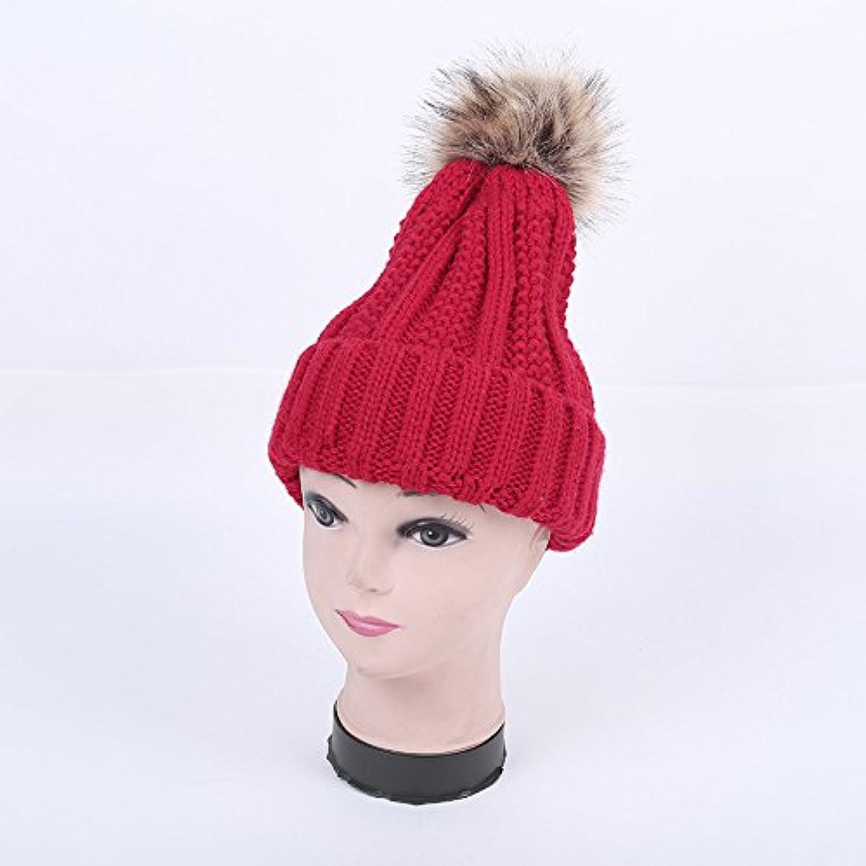 NWEC Winter Lady Warm Knitted hat Fashion Mao Xianmao