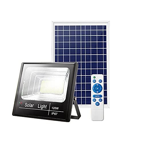 Focos Led Proyector Exterior Solares 300W 400W 500W 600W Con Pantalla De Batería Digital LED, Sensor Luz Luces Solares Inundación Súper Brillantes, Lámpara Seguridad Solares Impermeable IP6(Size:300W)