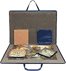 PREMIUM QUALITY MATERIAL - Lavievert puzzle storage bag is constructed by high quality oxford cloth and flannelette, lighter than traditional wooden storage racks. Soft interior padded with felt fabric offers reinforcement and well protects your unfi...