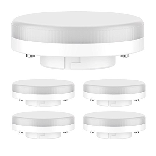 ledscom.de GX53 LED Leuchtmittel 6.3W=40W 450lm 100° warm-weiß, 5 Stk.