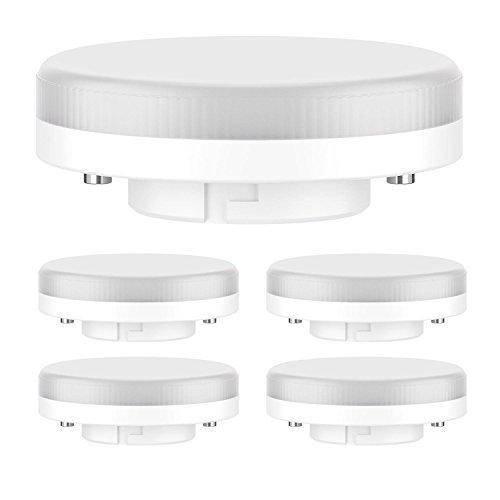 ledscom.de GX53 LED Bombilla 6.3W=40W 450lm 100° Blanca cálida, 5 UDS