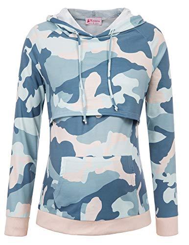 Maacie Schwangere Umstandskleidung Sweatshirt Langarmshirt Hoodie Stillpullover S MC1039-6