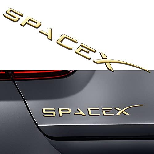 adhesivo insignia 1 unids SpaceX Logo Badge Car Troncer Sticker Pegatina Compatible con Tesla Modelo S Modelo 3 Modelo X Modelo Y Pegatina de la letra de la cola del coche Calcomanías creativas Insig