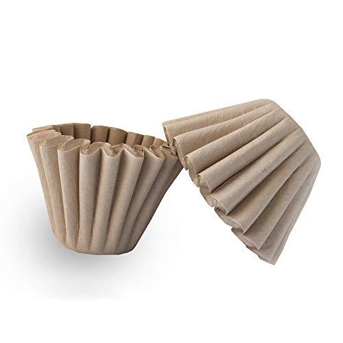 Kaffeefilter für 1–4 Tassen, natürliches Braun, biologisch abbaubar, Papierfilter, ungebleicht, für Zuhause, Büro, Kaffeefilter, Blumen, 50 Stück